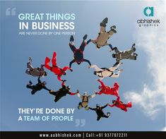 """""""Great Things in Business are never done by one person, They're done by A team of People"""" More Detail: www.aabhishek.com #abhishekgraphics #teamabhishek #graphicsdesign #digitalbranding # brand #brandidentity #teamwork #team #motivation #teamworkmakesthedreamwork #teambuilding #fun #business #covid #training #leadership #success #family #work #friends #hardwork #goals #entrepreneur #community #inspiration #sport #life #together Brand Identity, Branding, Team Motivation, Work Friends, Team Building, Teamwork, A Team, Never, Work Hard"""