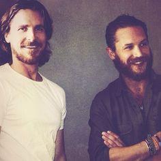 Christian Bale & Tom Hardy...with BEARDS! *sigh