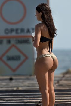 Amazing Big Butt Out In Public Bikinis Swimsuits March  Brunettes White