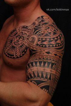 Tattoo Maksim Kokin - tattoo's photo In the style Ethnic, Ornamental, Male, Aztec, Ornamen Forarm Tattoos, Baby Tattoos, Time Tattoos, Body Art Tattoos, Tattoos For Guys, Polynesian Tattoo Designs, Maori Tattoo Designs, Tattoo Sleeve Designs, Sleeve Tattoos