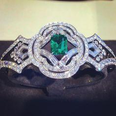 Louis Vuitton Jewellery.  Via Mario-Temmy Moreaux (@luxurypassion.by.temmy) on Instagram: Emeralds and diamonds bracelet by @louisvuitton #louisvuittonjewelry #emerald #diamonds