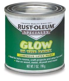 Rust-Oleum Glow-In-The-Dark Brush-on Paint - 7 oz, Glow-In-The-Dark Brush-On Paint