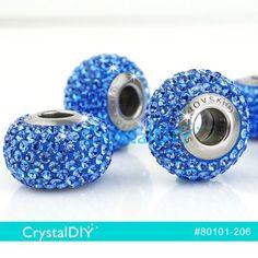 Swarovski-BeCharmed-Pave-80101-Sapphire-Crystal-for-3pcs-join-European-Bracelet it can join Pandora charm bracelet
