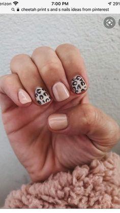 Cute Nails, Pretty Nails, Cute Fall Nails, Simple Fall Nails, Pretty Short Nails, Nagellack Design, Finger Nail Art, Leopard Nails, Colorful Nails