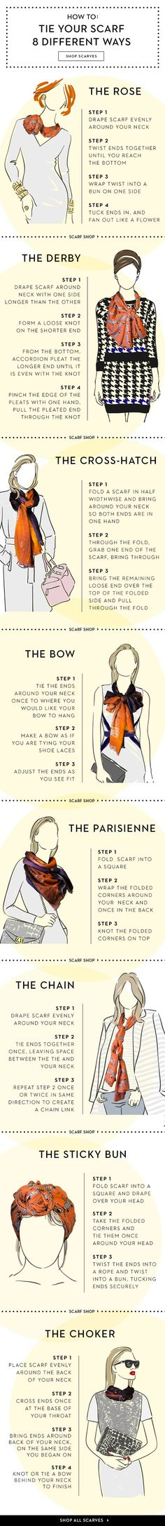8 Ways to Wear a Scarf this Spring - from fab.com: