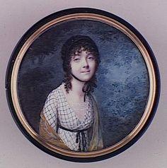 Portrait de jeune femme brune - Dubois Frédéric (fin 18e siècle-début 19e siècle)