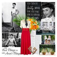"""Audrey Hepburn in Roman Holiday"" by helena2005lm ❤ liked on Polyvore featuring Alice + Olivia, Hermès, Bobi and Matt Bernson"