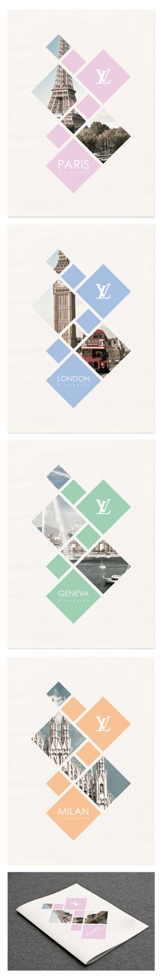 Louis Vuitton - City Guide by Suellen Lopes Oliveira #editorial #design #guide #cover #layout