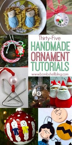 Roundup of handmade Christmas Ornaments. Easy, cute and cheap DIY projects crafts! Check more at http://hrenoten.com