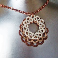 Tatted Lace Necklace by LacyTreasures, $34.50  www.LacyTreasures.Etsy.com
