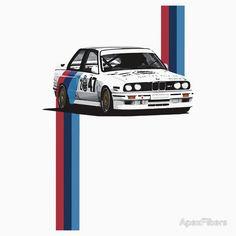 BMW M3 (e30) WTCC Race Car with Verticle M Stripes