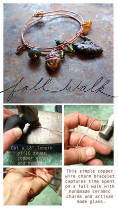 """Art Bead Scene Blog: """"Fall Walk"""" Bracelet Tutorial"""