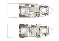 The Beneteau Gran Turismo 49 comes in two accommodation versions. A two or three stateroom layout is offered, both with two heads.