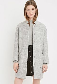 Boucle Car Coat | Forever 21 - 2000140888
