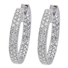 18k White Gold 0.84ct Round Diamond Earrings $1,665.00