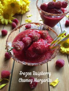 This frozen raspberry chamoy margarita has only 5 ingredients. Fresh and frozen raspberries, orange juice, honey, chamoy and white tequila. Frozen Drink Recipes, Easy Drink Recipes, Best Cocktail Recipes, Sangria Recipes, Beer Recipes, Margarita Recipes, Punch Recipes, Smoothie Recipes, Dessert Recipes