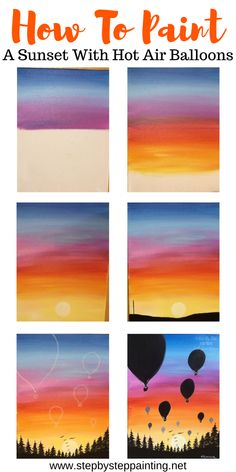 painting Sunset Painting - Learn To Paint An Easy Sunset With Acrylics Create your very own sunset painitng with acrylics. This step by step acrylic painitng tutorial for beginners will guide you through the techniques. Canvas Painting Tutorials, Simple Canvas Paintings, Easy Canvas Art, Small Canvas Art, Easy Canvas Painting, Happy Paintings, Acrylic Canvas, Sunset Acrylic Painting, Easy Acrylic Paintings