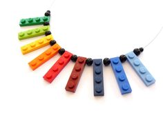 Upcycling Necklace play with me RAINBOW bright by ArohaJewelz