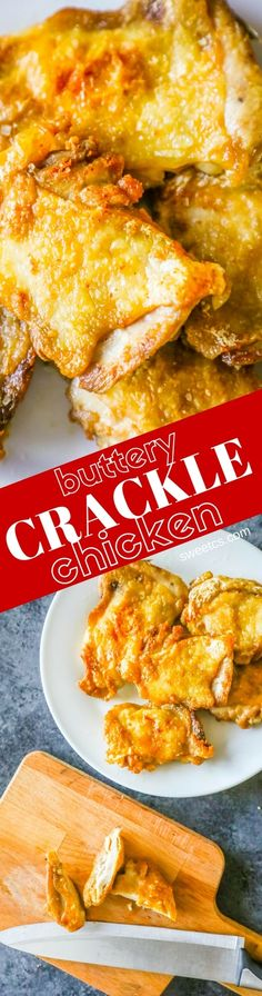 Easy Low Carb Keto Buttery Crackle Chicken Thighs