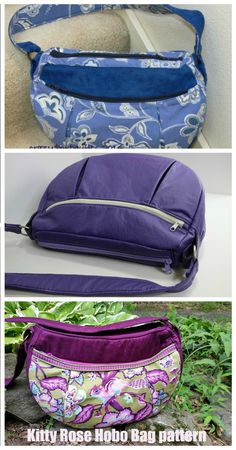 Sewing pattern for a casual hobo bog. This everyday purse to sew is great for work days, date nights and weekends. It's a hobo bag to DIY with a nice curved top. This hobo bag sewing pattern comes in three different sizes to suit every body, every day and every sewer. #SewModernBags #SewABag #SewAHoboBag #BagSewingPattern #HoboBagSewingPattern Hobo Bag Patterns, Handbag Patterns, Wallet Sewing Pattern, Sewing Patterns, Simple Bags, Best Bags, Medium Bags, Purses And Handbags, Totes