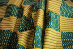 Kente Print Fabric Ankara African Print African by EtamStudio Ankara Fabric, African Fabric, Unique Outfits, Head Wraps, Crafts To Make, Printing On Fabric, Wax, Yellow, Cotton
