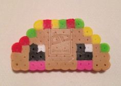 Kawaii Taco perler beads by *Karulaa on deviantART