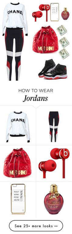 """Untitled #1075"" by ayannap on Polyvore featuring Beats by Dr. Dre, Moschino, River Island, No Ka'Oi and Chanel"