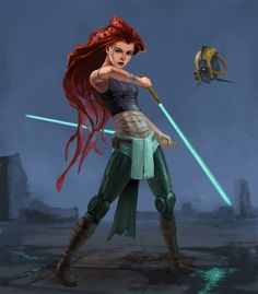 Star Wars and Disney mash-ups aren't new, but that doesn't mean that every artist's take on blending the Jedi (or Sith)and fairy tale princesses are all the same. We've shared Tom Hodges' lightsaber-wielding Disney princesses before, and they look pretty cool,but artist Phil Berry illustrated more detailed, more badass, andless cartoony mash-ups of some of Disney's most iconic princesses, turning Rapunzel, Belle, Jasmine, and Ariel into Jedi. Rapunzel