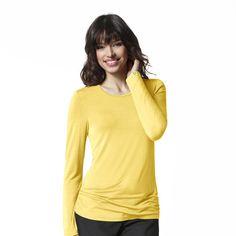 12d48ce3 WonderWink Silky Long Sleeve Tee (2009) | WonderWink Scrub Shop #scrubs  #uniforms