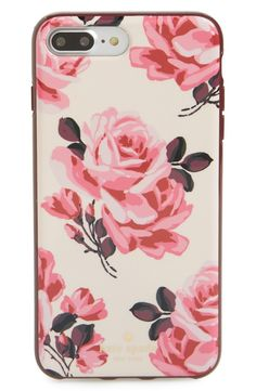 Vivacious floral patterns add signature Kate Spade sophistication to this hardshell iPhone case that keeps the tech chic and scratch-free.