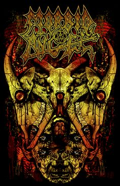 Shirt design for the death metal band Morbid Angel Morbid Angel Death Metal, Power Metal, Heavy Metal Music, Heavy Metal Bands, Music Artwork, Metal Artwork, Rock Y Metal, Black Metal, Thrash Metal
