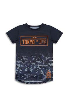 Primark - Older Boy Tokyo Japan T-Shirt Shirt Print Design, Tee Shirt Designs, Army Shirts, Shirts For Girls, Culture Shirt, T Shirt Painting, Mens Tees, Printed Shirts, Tokyo Japan