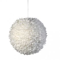 1000 images about lamps on pinterest feathers eos and hanging lamps - Suspension plumes blanches ...