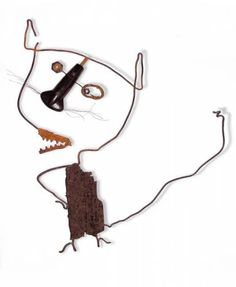 Christian Voltz / Chat - (cat) Klimt, Alsace France, American Quilt, Art Brut, Craft Materials, Wire Art, Funny Art, Art Plastique, Art Lessons