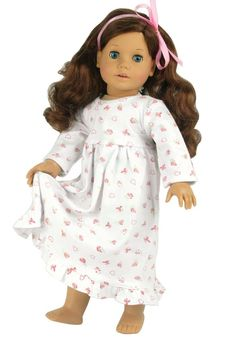 Amazon.com: Dolls Nightgown fits American Girl Dolls, Print Knit Nightgown for 18 Inch Dolls: Toys & Games