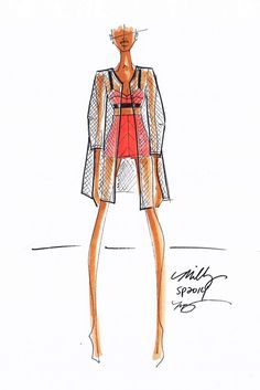 """Spring 2014 Designer Inspirations: """"An ultramodern interpretation of the traditional notion of femininity."""" — Michelle Smith, Milly [Courtesy Photo]"""