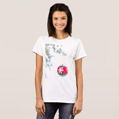 Christmas red ornament pine white snow T-Shirt #christmas #womensfashion #xmas #womensclothing