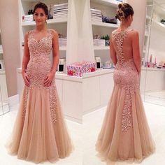 Charming Prom Dress,Mermaid prom dress,Backless prom dress,Long prom d – Princesssbride