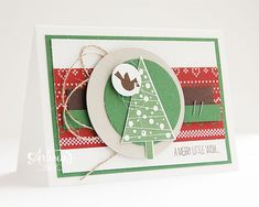 Stampin' Cards and Memories: Workshop Stamp a Stack, Festival of Trees, Tree Punch, Trim The Tree DSP