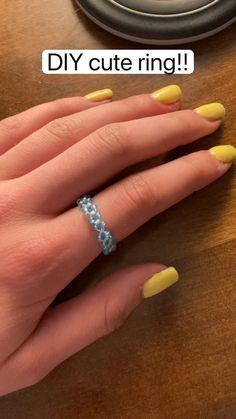 Diy Beaded Rings, Diy Jewelry Rings, Diy Jewelry Unique, Handmade Wire Jewelry, Diy Crafts Jewelry, Ring Crafts, Bracelet Crafts, Seed Bead Jewelry, Beaded Jewelry
