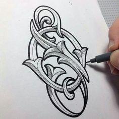 Theosone lettering