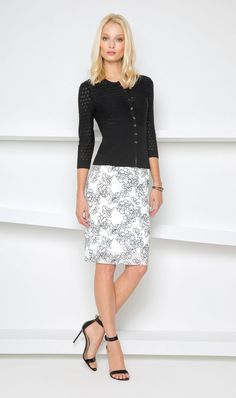 Etcetera | Spring 2015: Nightsky sweater, Etched skirt