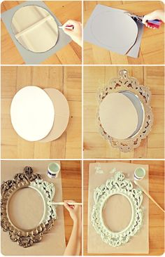 DIY framed whiteboard--this is exactly what I want to do with my huge oversized mirror!