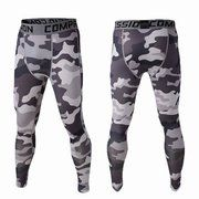 Mens Camo Quick Dry Sports Jogging Tights Basketball Gym Pants Bodybuildin Legging Trousers