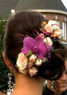 Hairpiece made by Jeremy at Olive & Dahlia on 25th Street. So creative, Love it!!!