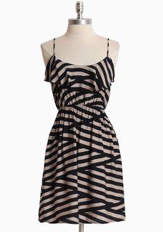 Crossing Paths Striped Dress