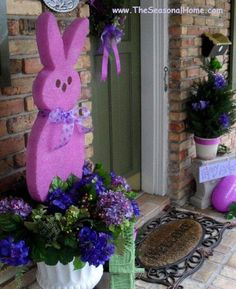 Outdoor Design, Easter Egg Decorating Kits House Veranda Design: Dazzling Porch Easter Decorations For The Home