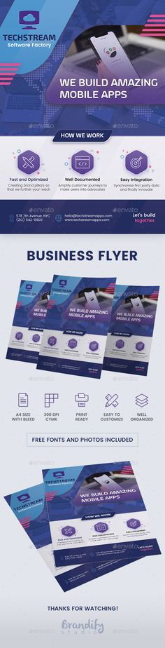 Buy Business Flyer by brandifystudio on GraphicRiver. Business Flyer Spread the word of your business with this modern and attractive flyer template. Buy Business, Business Company, Business Brochure, Business Names, Psd Flyer Templates, Business Flyer Templates, Marketing Flyers, Advertising Slogans, Creative Flyers