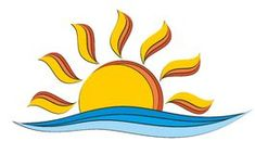 Sun and sea logo Royalty Free Stock Images