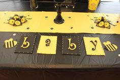 Bee themed gender reveal Gender Reveal Party Ideas   Photo 2 of 9